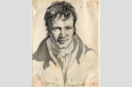 "Humboldt 1807 in Berlin (Zeichnung von Frédéric d'Houdetot). Quelle: <a href=""https://de.wikipedia.org/""target=""_blank"">Wikimedia Commons</a>"