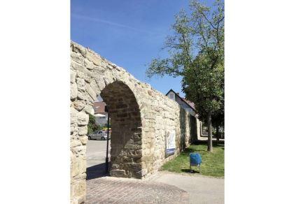 Teil der Stadtmauer in Großbottwar.