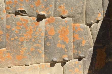 The Incas took advantage of pre-existing fractures in local stones to reduce the amount of energy needed to create their master stonework. Photo taken July 21, 2016 by Terri Cook and Lon Abbott.