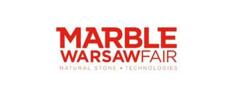 """The logo of """"Marble Warsaw Fair""""."""
