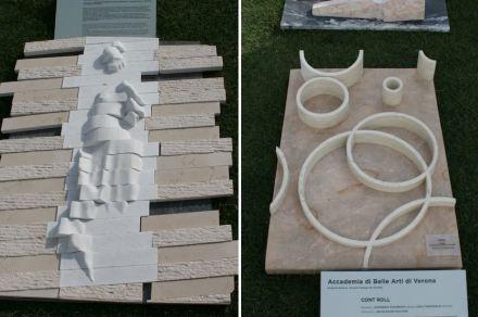 "Verona Academy of Fine Arts: ""Rewind"" (left), ""Cont Roll""."