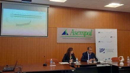 AEMA-Präsident Jesús Posadas bei der Pressekonferenz zu den Premios Macael 2019.