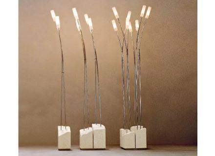 """Laboratorio del Marmo hat Lampen mit Naturstein als """"Skulpturen mit Funktion""""."""