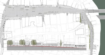 Atelier Arhitekti: Redesign of the old market square in Novo Mesto. Graphic design: Studio Arhitekti
