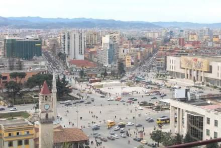 Tirana's Skanderbeg Square.