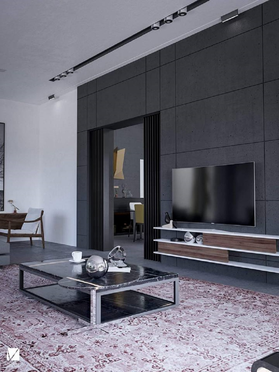 wall panels for living room decoration ideas apartment original concrete stone panel 325 anthracite faux covering