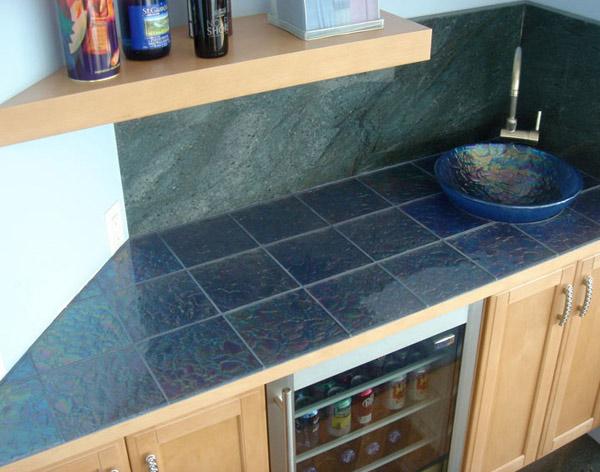 slate tiles kitchen countertop