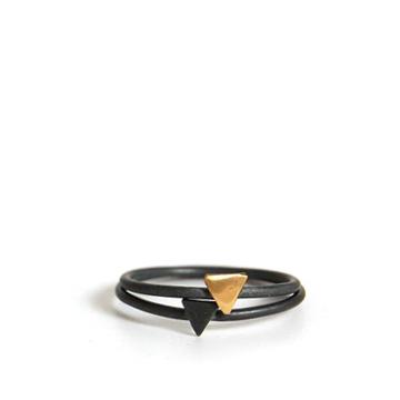 Tiny Triangle Rings by Stone & Honey