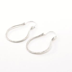 Textured Sterling Silver Loop Earrings