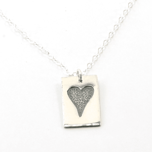 Rustic Heart Pendant Necklace