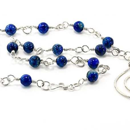 EK01076 Sterling Silver and Lapis Bead Swirl Necklace_1_050520