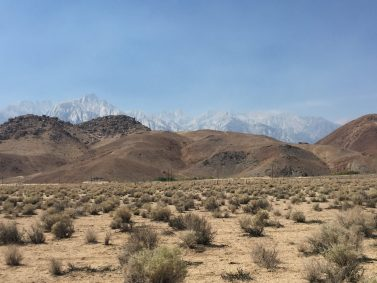 Alabama Hills and Mt. Whitney from Lone Pine