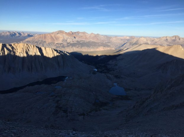 Climbing down from the summit of Mt. Whitney (4)