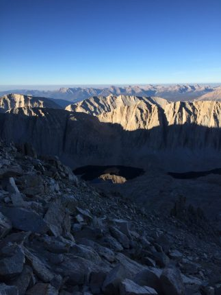 Climbing down from the summit of Mt. Whitney (6)