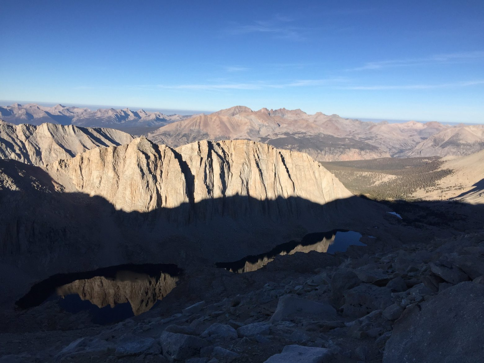Climbing down from the summit of Mt. Whitney (9)