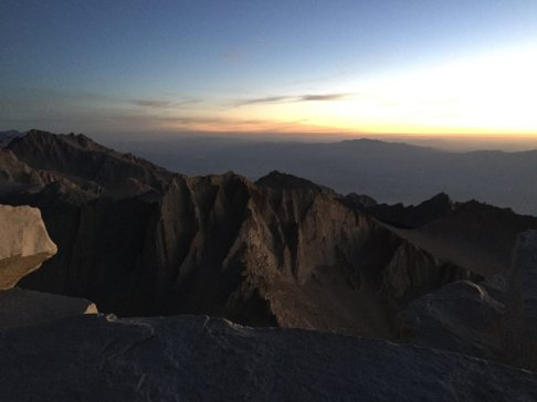 Sunrise on the summit of Mt. Whitney (8)