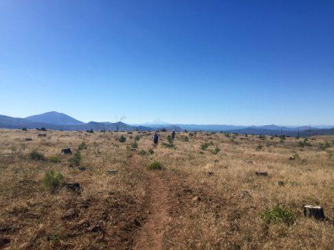 Low grass plateau on Hat Creek Rim
