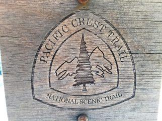 Rare burned wood PCT marker