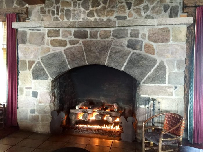 Fireplace in Crater Lake Lodge