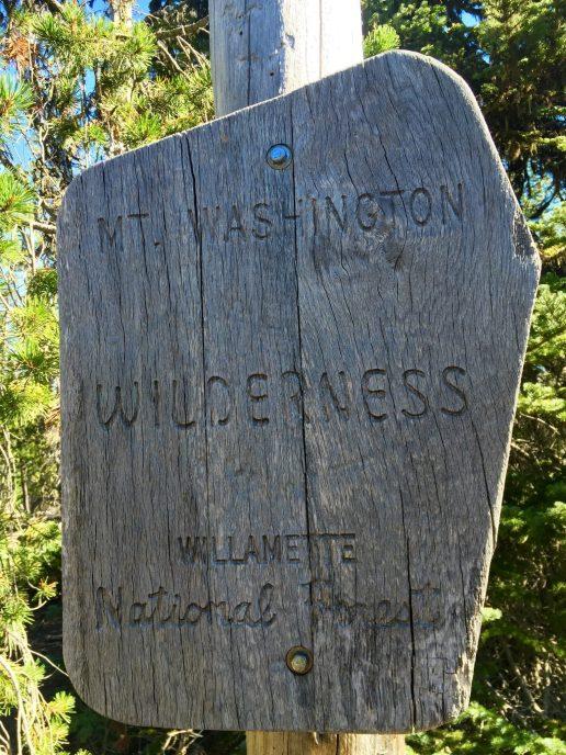 Entering the Mount Washington Wilderness