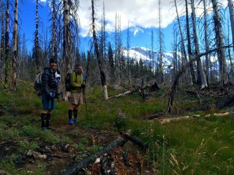 Beardoh and Mountain Man approaching Mount Adams