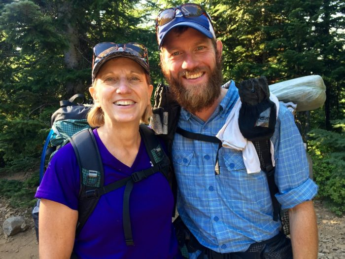 Mountain Man and Mountain Mom all smiles on the PCT