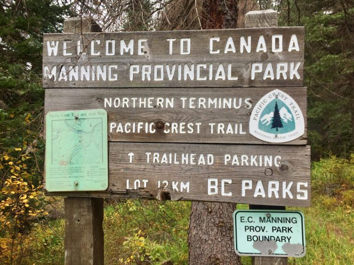 Manning Provincial Park welcome sign