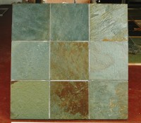 Multi colour Olive Green Slate Flooring | Stone & Slate ...