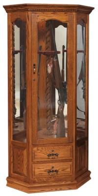 Corner Swivel Gun Cabinet : 452-GO-5002-9 : Wood Accents ...