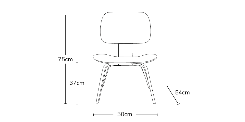 Charles Ray Eames Style LCW Chair