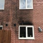 BEFORE - Fire damage to house - cleaned using DOFF system