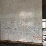 AFTER - Graffiti removal using DOFF and modern paint softener's