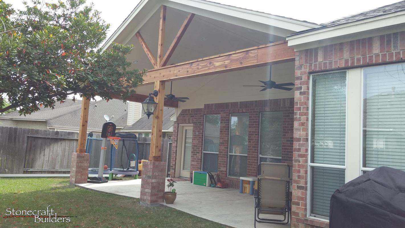 Outdoor Covered Patio Builders in Houston  Stonecraft