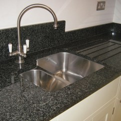 Blue Kitchen Sink Cool Islands Nero Impala Granite - Stone Culture