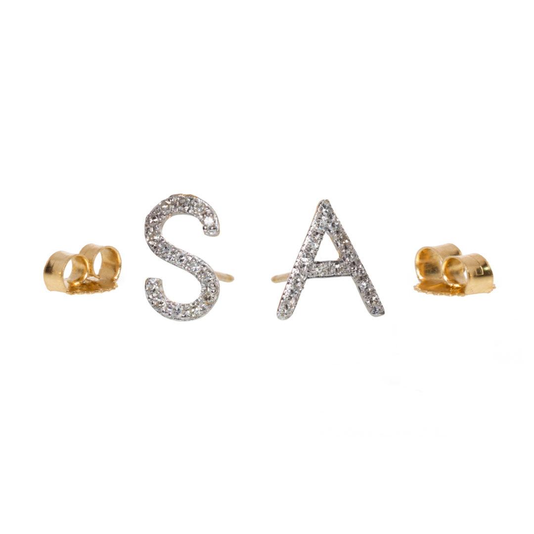 14k Gold Arc Wire Earrings With Single Bezel Diamond