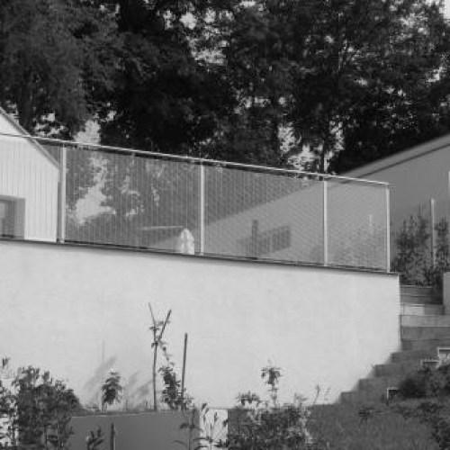 Garde corps de balcon en noir et blanc