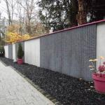 Les parements muraux en gabion donnent un aspect naturel