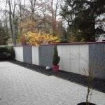 Mur béton avec des panneaux gabion