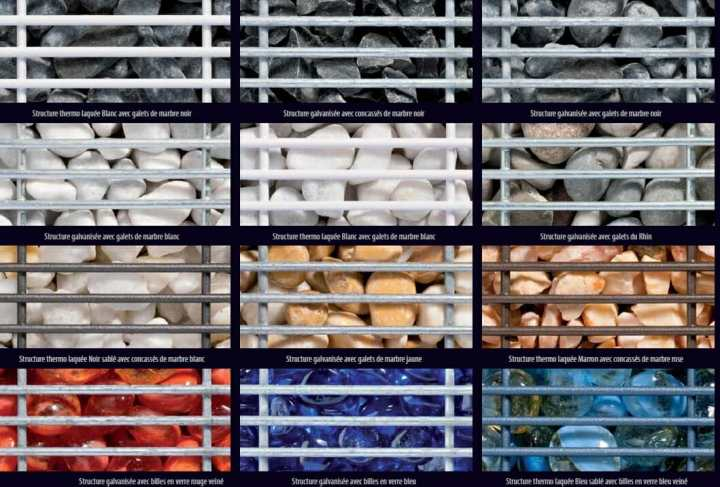Cailloux et pierres Stonefence pour Gabion