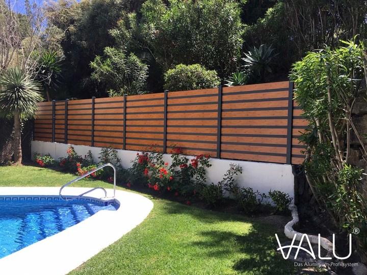Claustra exterieur aluminium piscine