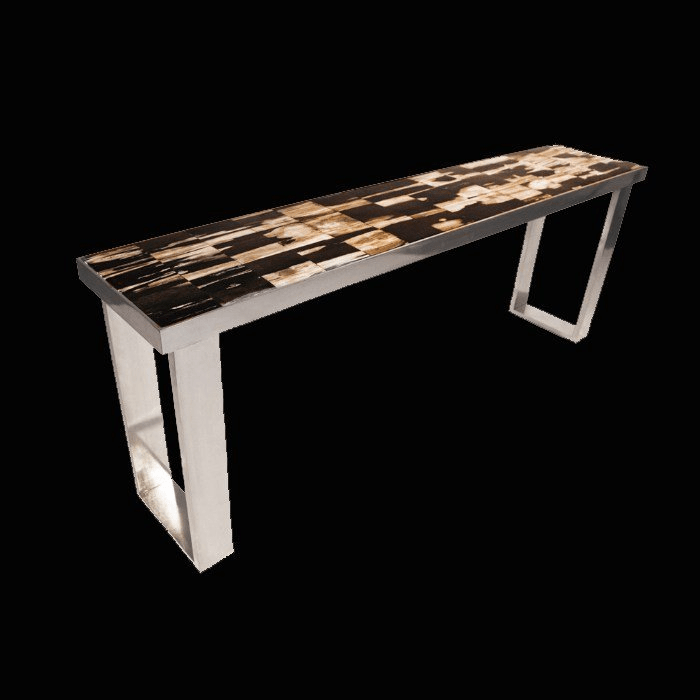 Petrified Wood Mosaic Console