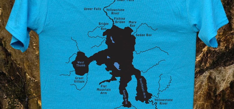 CATCH AND SHARE THE SPIRIT OF THE WATER – STONEFLY STUDIO ORIGINAL RIVER MAP T-SHIRTS