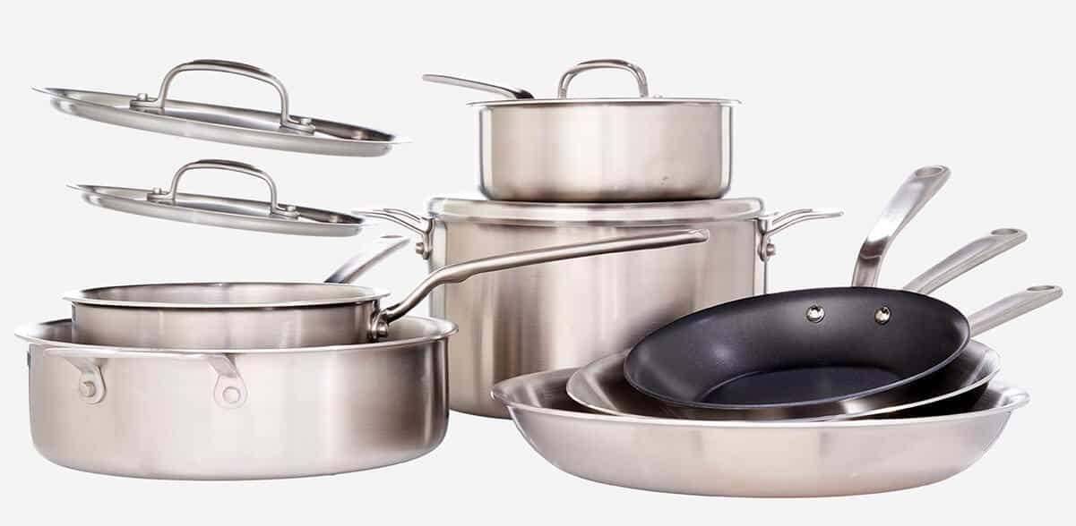 kitchen vessels set cheap island the 6 best and tested induction cookware sets in 2019 made stainless steel