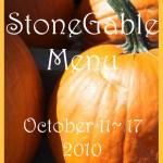 StoneGable Weekly Menu