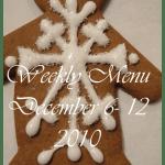 Weekly Menu, December 6,2010