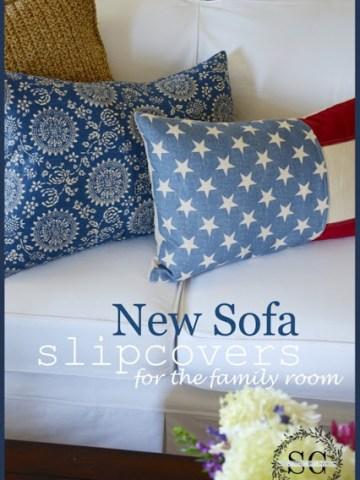 NEW SOFA SLIPCOVERS…