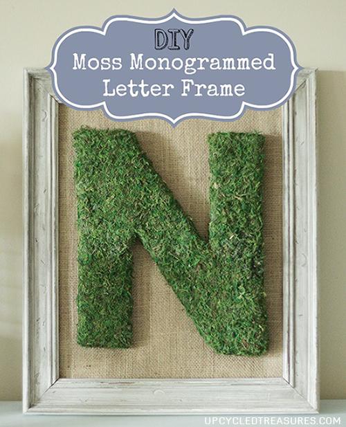 diy-moss-monogrammed-letter-frame