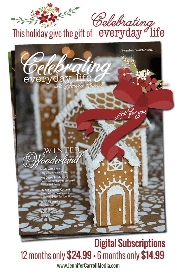 Celebrating Everyday Life Magazine Gift Subscriptions
