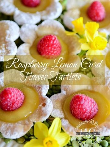 RASPBERRY LEMON CURD FLOWER TARTLETS