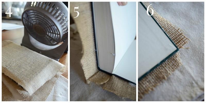 Burlap Covered Book-Collage 4,5,6-stonegableblog